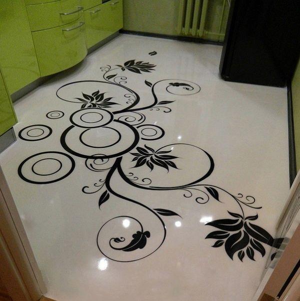 Кафельная плитка на пол с рисунком на кухню